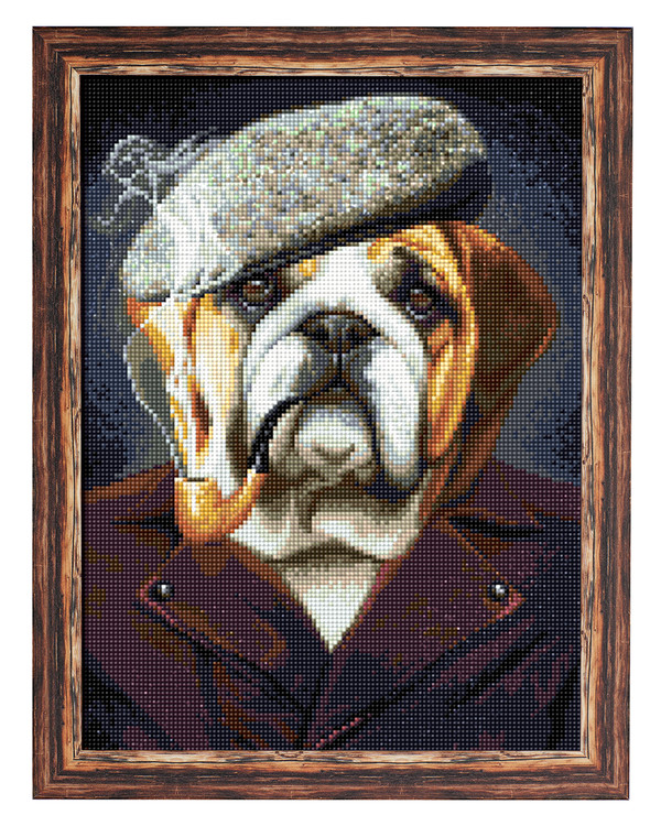 Diamond painting Bulldogge